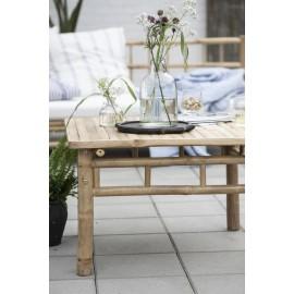 ib laursen table basse carree rustique bois bambou 2291-00