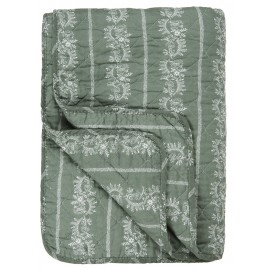 ib laursen boutis pique matelasse vert kaki motif 130 x 180 cm