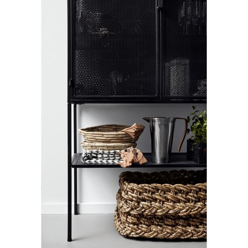 nordal meuble vitrine metal noir perforé style industriel ...
