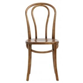 nordal chaise style bistrot retro vintage bois bouleau marron