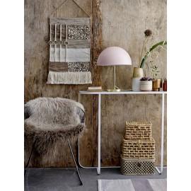 bloomingville lampe de table champignon retro rose pastel metal dore