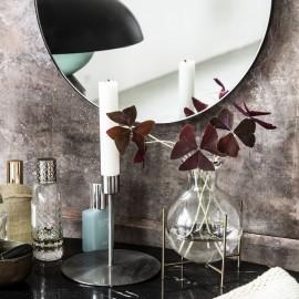 house doctor lana vase en verre pose sur support metal laiton sv1041