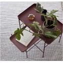 hubsch set de 2 tables basses metal fin rouge 990832