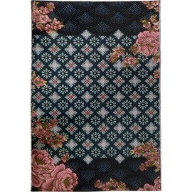 miho unexpected gambling tapis romantique boheme tisse fleuri 140 x 210 cm