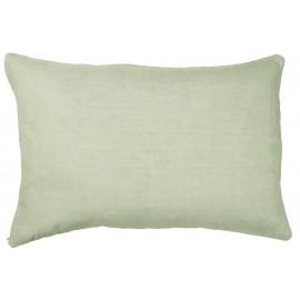 Housse de coussin rectangulaire vert lin IB Laursen