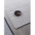 hubsch tapis design epure uni coton gris clair uni 120 x 180 cm 700818