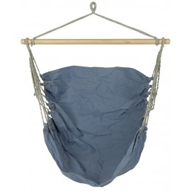 Chaise suspendue hamac tissu bleu IB Laursen