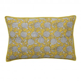 bungalow denmark housse de coussin soie rectangulaire jaune curry Pomegranate