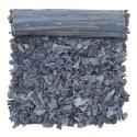 Tapis de chiffon recyclé bleu Bungalow Denmark