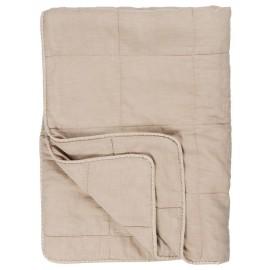 ib laursen boutis couvre lit beige sable coton 130 x 180 cm