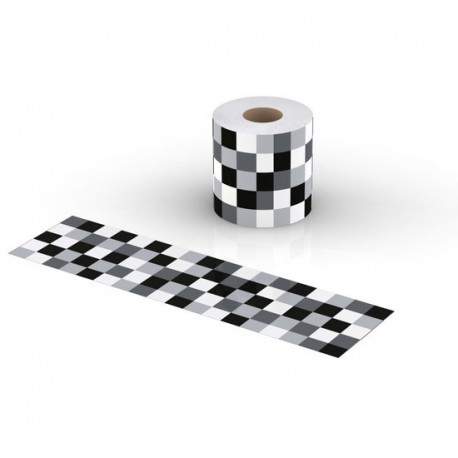 bandelette-cov-roll-lif-mosaic-noir-et-blanc