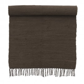 bungalow denmark tapis chindi indien coton recycle marron 60 x 90 cm