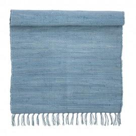bungalow denmark tapis coton recycle chindi indien bleu ciel 60 x 90 cm