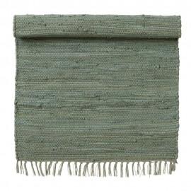 bungalow denmark tapis descente de lit coton chindi vert 60 x 90 cm