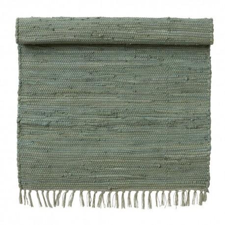 Tapis descente de lit coton recyclé chindi vert Bungalow Denmark