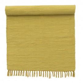 bungalow denmark tapis de chambre chindi coton recycle jaune 60 x 90