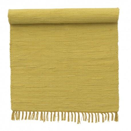 Tapis de chambre chindi coton recyclé jaune Bungalow Denmark