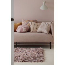 bungalow denmark tapis fluffy chiffon recycle rose 80 x 140 cm