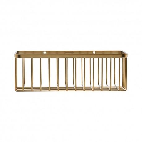 house doctor panier etagere salle de bains metal dore laiton wg0320