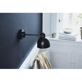 frandsen job mini applique metal noir orientable avec interrupteur 414965011