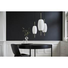 suspension retro chic ovale verticale verre blanc laiton frandsen silk