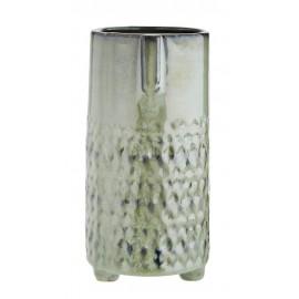 madam stoltz vase cache pot gres vert visage