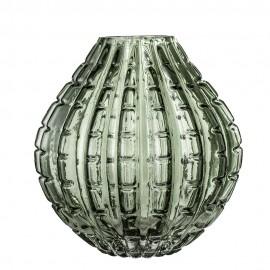 bloomingville vase style vintage verre taille vert