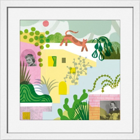 Illustration tableau chat Miho Unexpected Things Hanging Around