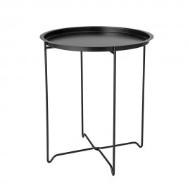 bloomingville soon table d appoint metal noir plateau amovible 89166081