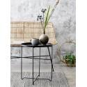 bloomingville soon table d appoint metal noir plateau amovible 89166081
