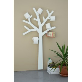 Presse Citron Pqtier Wall Tree Paper WC Rolls Holder Metal White