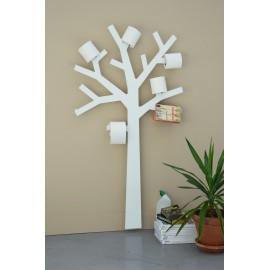 Portarrolos para WC de pared árbol blanco Pqtier