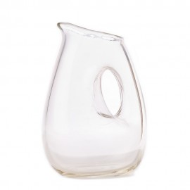 pols potten carafe jug with hole verre transparent 110-400-002