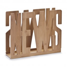 zeller porte revues bois de bambou news 13577