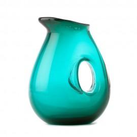 carafe design verre souffle pols potten hole vert emeraude