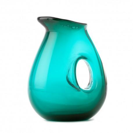 Carafe design verre soufflé Pols Potten Hole vert