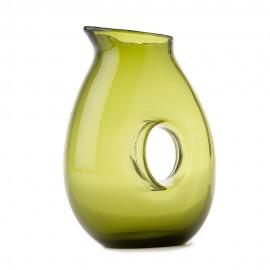 carafe verte design verre pols potten hole 140-400-024
