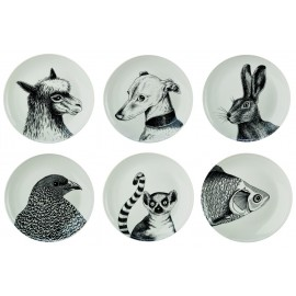 pols potten animals assiettes animaux porcelaine 230-400-515