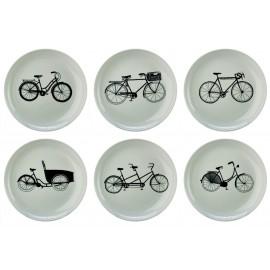 Assiettes à dessert vélos Pols Potten Bikes (set de 6)