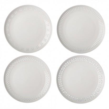 pols potten assiettes percees facon dentelle porcelaine 230-400-475