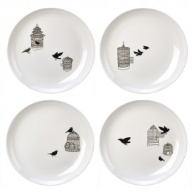 Assiettes oiseaux porcelaine Pols Potten Freedom Birds (set de 4)