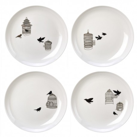 pols potten freedom birds assiettes oiseaux 230-400-447