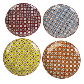 pols potten hippy set de 4 grandes assiettes multicolores 230-400-401