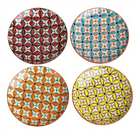 pols potten hippy set de 4 petites assiettes multicolores 230-400-164