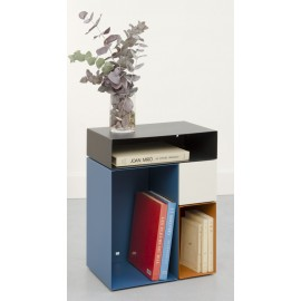 presse citron kase table bout de canape rangement design bleu metal