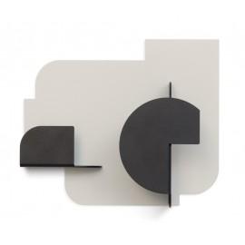 Petite patère métal design Presse Citron Urba 04 noir blanc