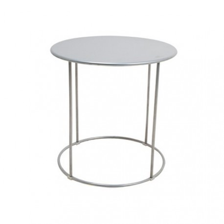 Petite table basse design m tal argent eclipse kdesign - Petite table basse design ...