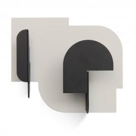 Patère design Presse Citron Urba 03 noir blanc
