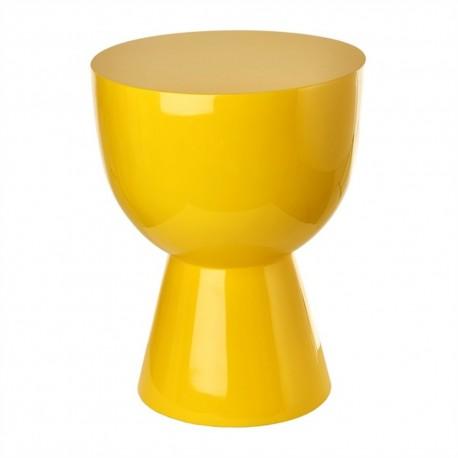 pols potten tam tam tabouret design jaune