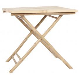 ib laursen table d appoint pour terrasse carree bois bambou 2296-00